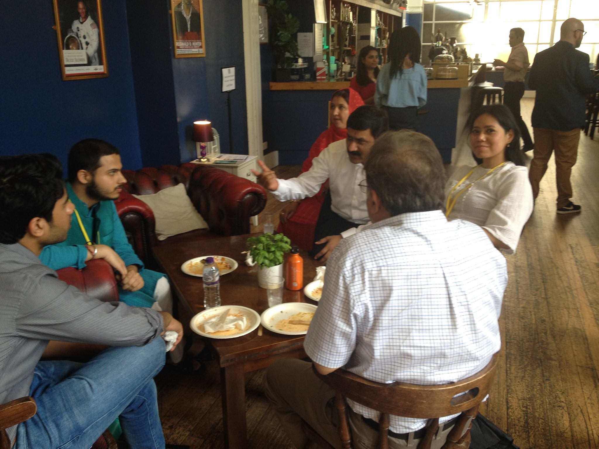 Meeting Malala's parents over lunch